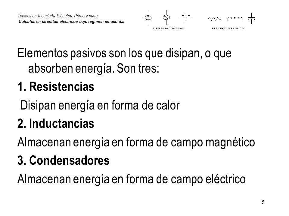 Disipan energía en forma de calor 2. Inductancias