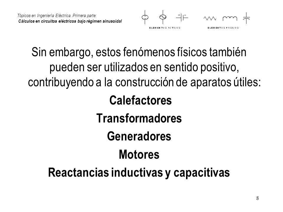 Reactancias inductivas y capacitivas