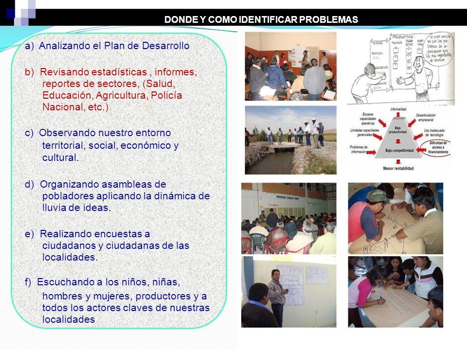 DONDE Y COMO IDENTIFICAR PROBLEMAS