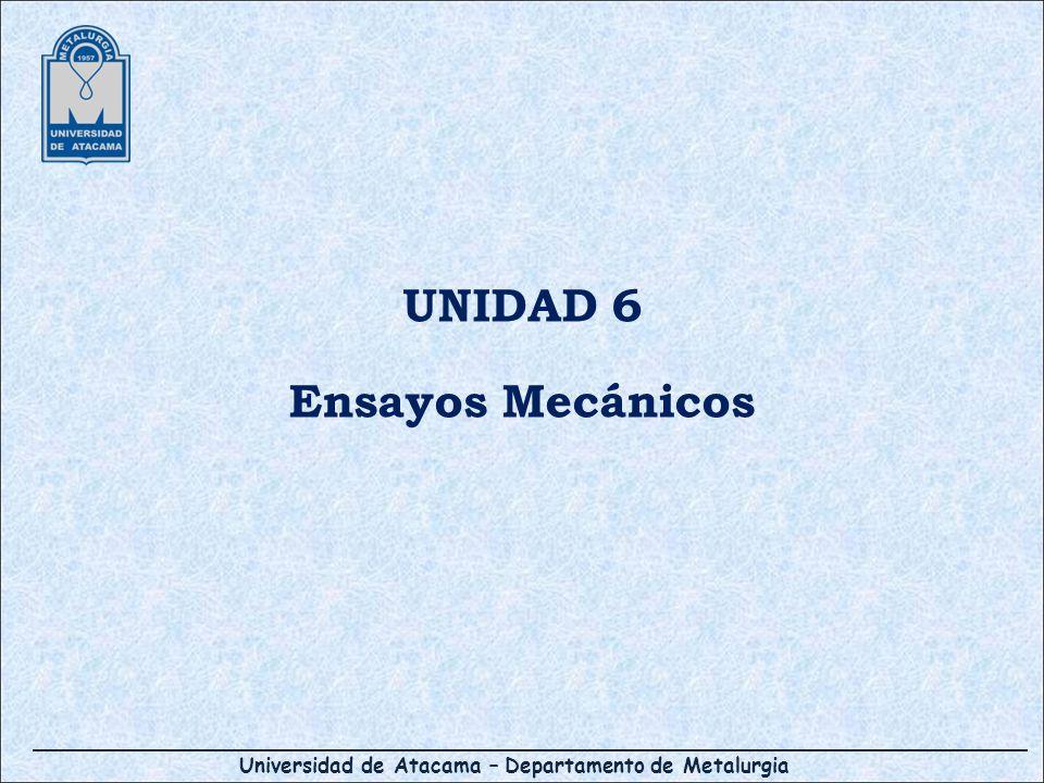 UNIDAD 6 Ensayos Mecánicos