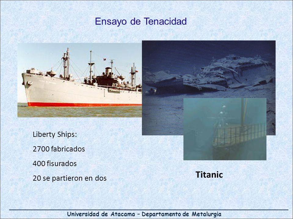 Ensayo de Tenacidad Titanic Liberty Ships: 2700 fabricados