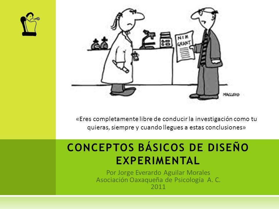 CONCEPTOS BÁSICOS DE DISEÑO EXPERIMENTAL