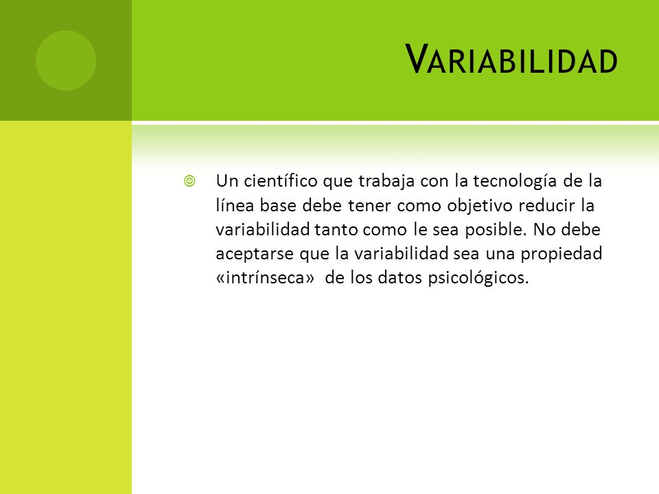 Variabilidad