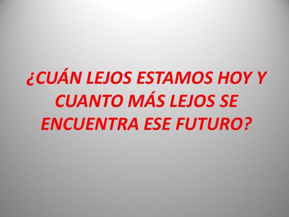 ¿CUÁN LEJOS ESTAMOS HOY Y CUANTO MÁS LEJOS SE ENCUENTRA ESE FUTURO
