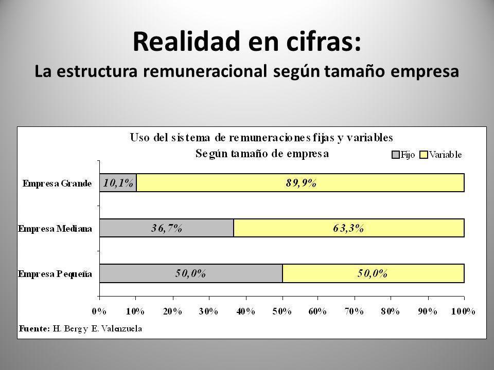 Realidad en cifras: La estructura remuneracional según tamaño empresa