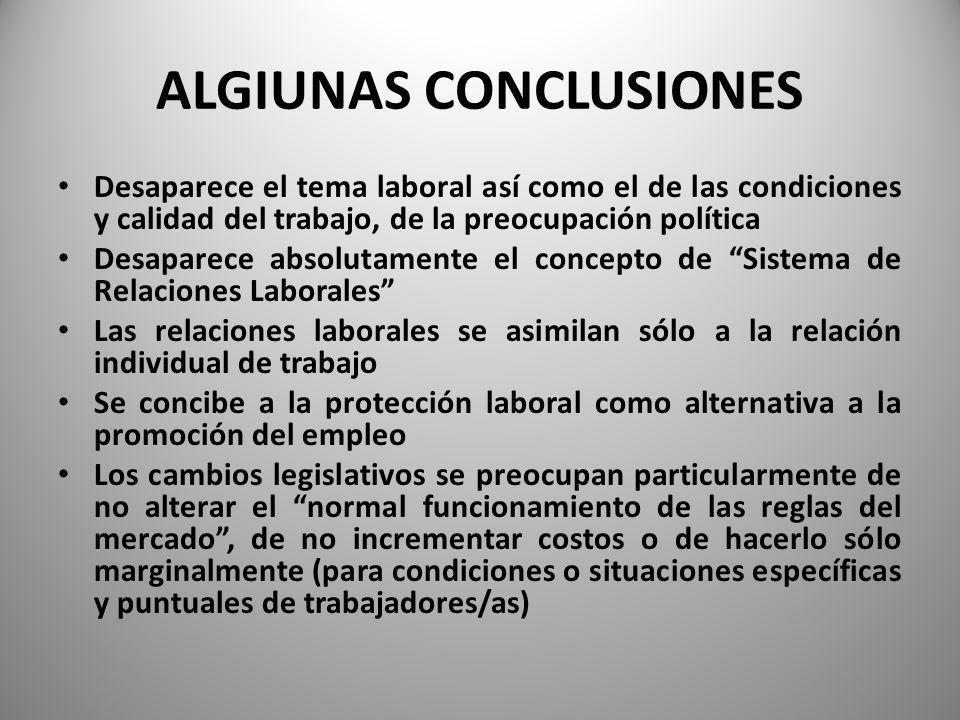 ALGIUNAS CONCLUSIONES