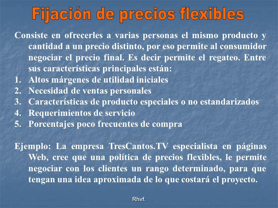Fijación de precios flexibles