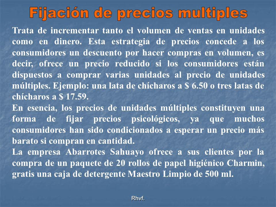 Fijación de precios multiples
