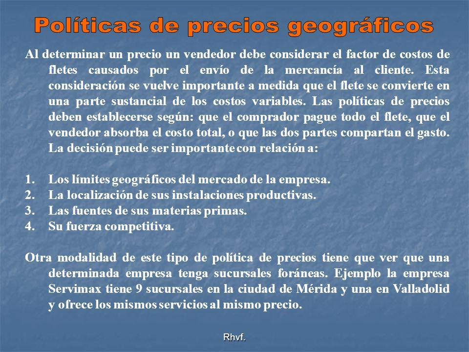 Políticas de precios geográficos