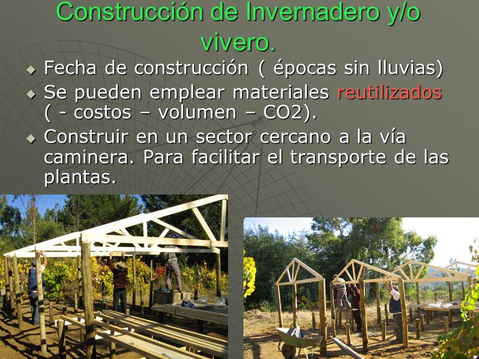 Construcción de Invernadero y/o vivero.