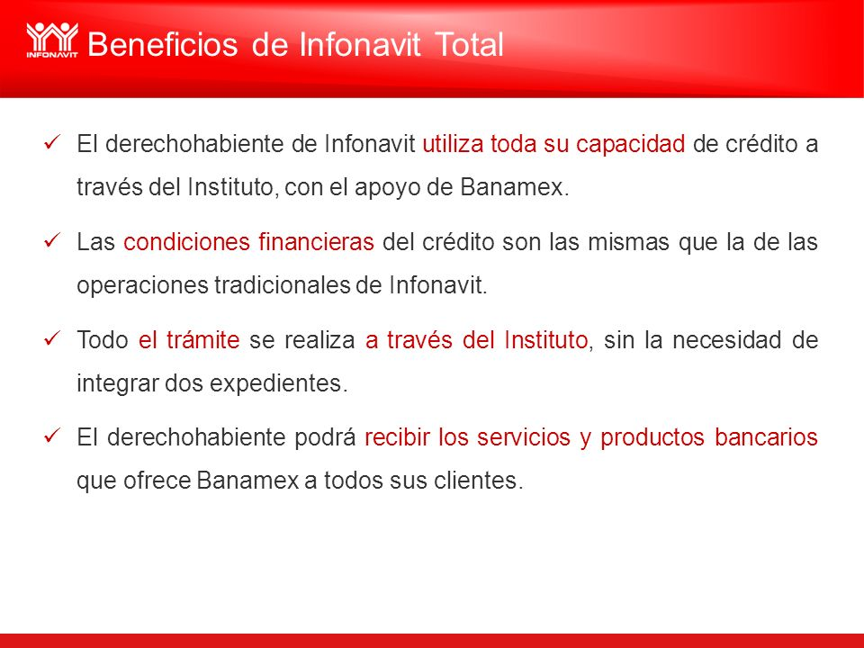 Beneficios de Infonavit Total