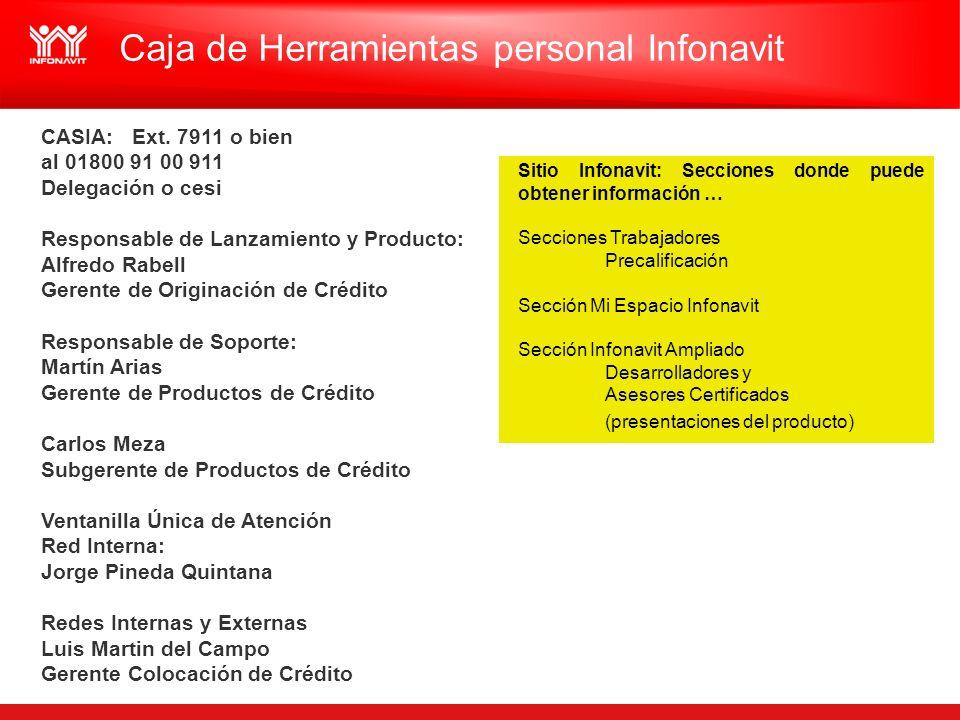 Caja de Herramientas personal Infonavit