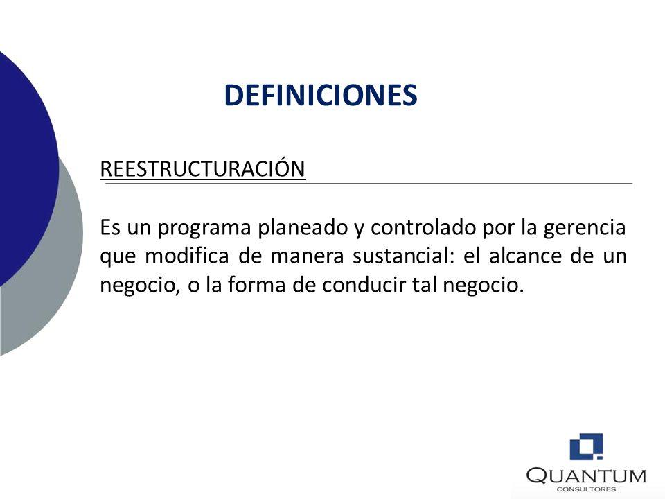 DEFINICIONES REESTRUCTURACIÓN