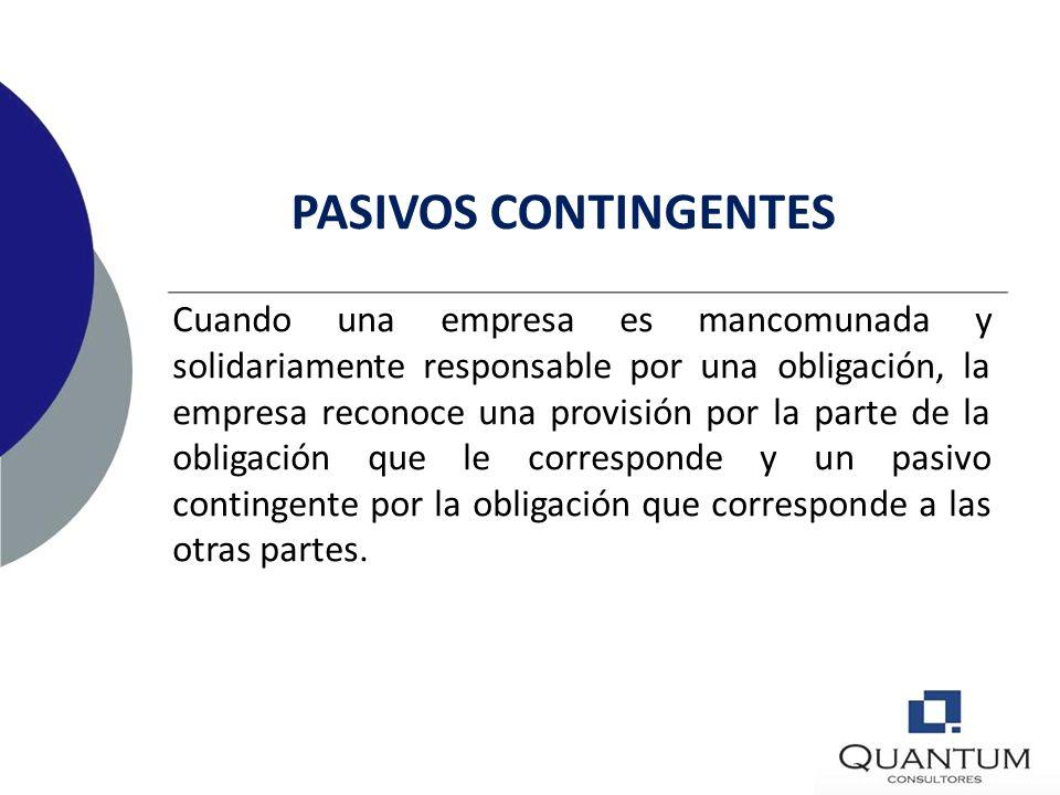 PASIVOS CONTINGENTES