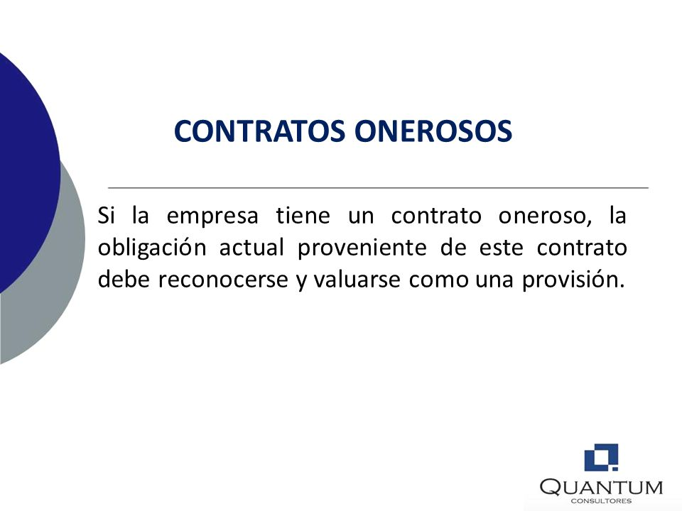 CONTRATOS ONEROSOS