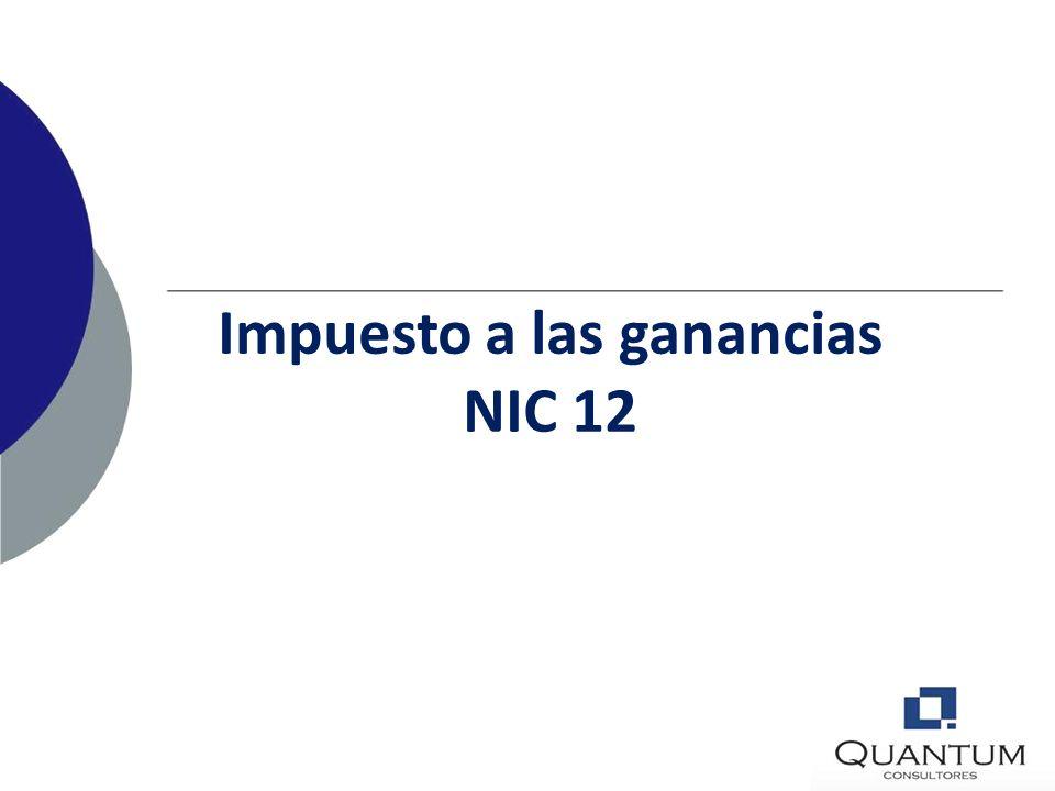 Impuesto a las ganancias NIC 12