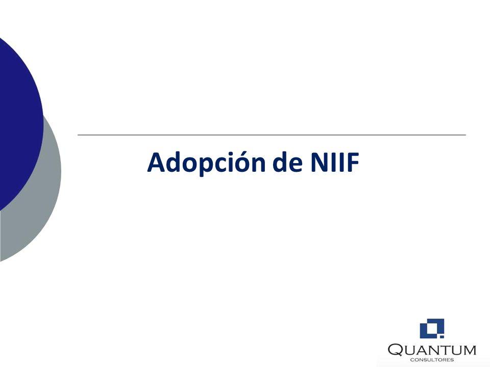 Adopción de NIIF