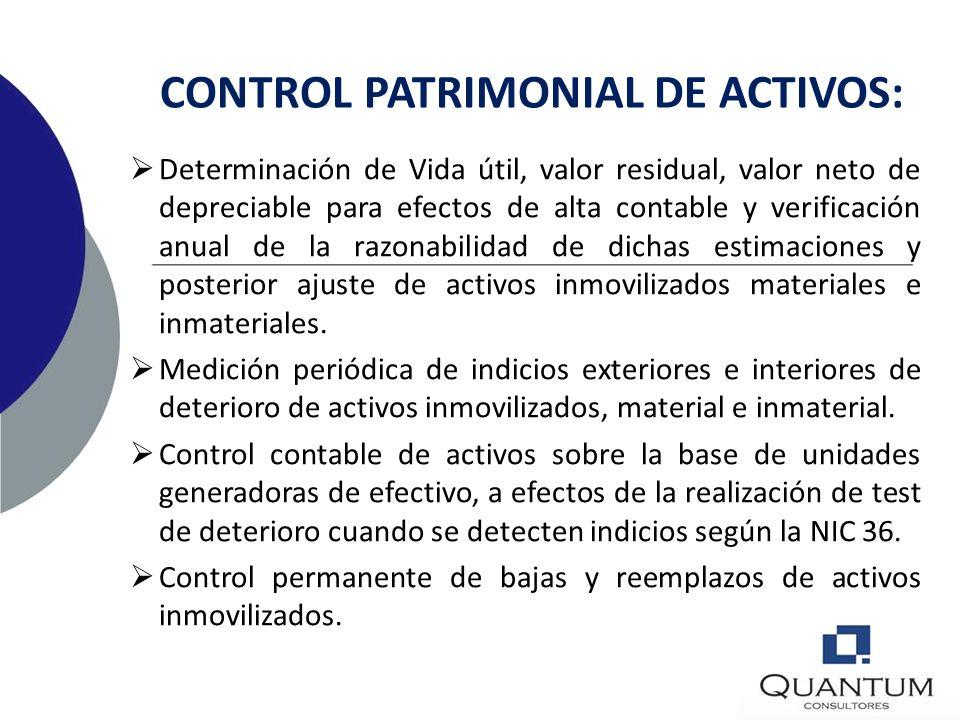 CONTROL PATRIMONIAL DE ACTIVOS: