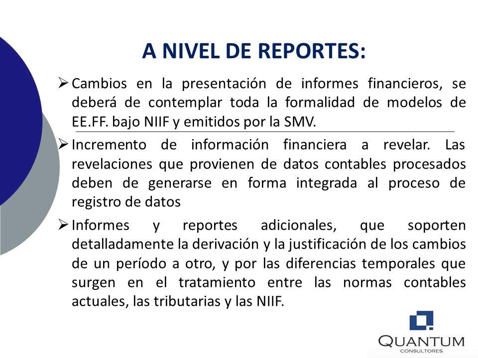 A NIVEL DE REPORTES: