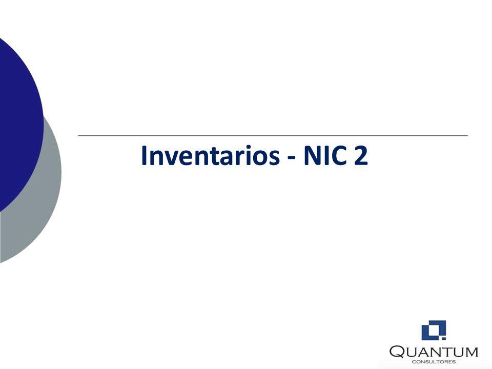 Inventarios - NIC 2