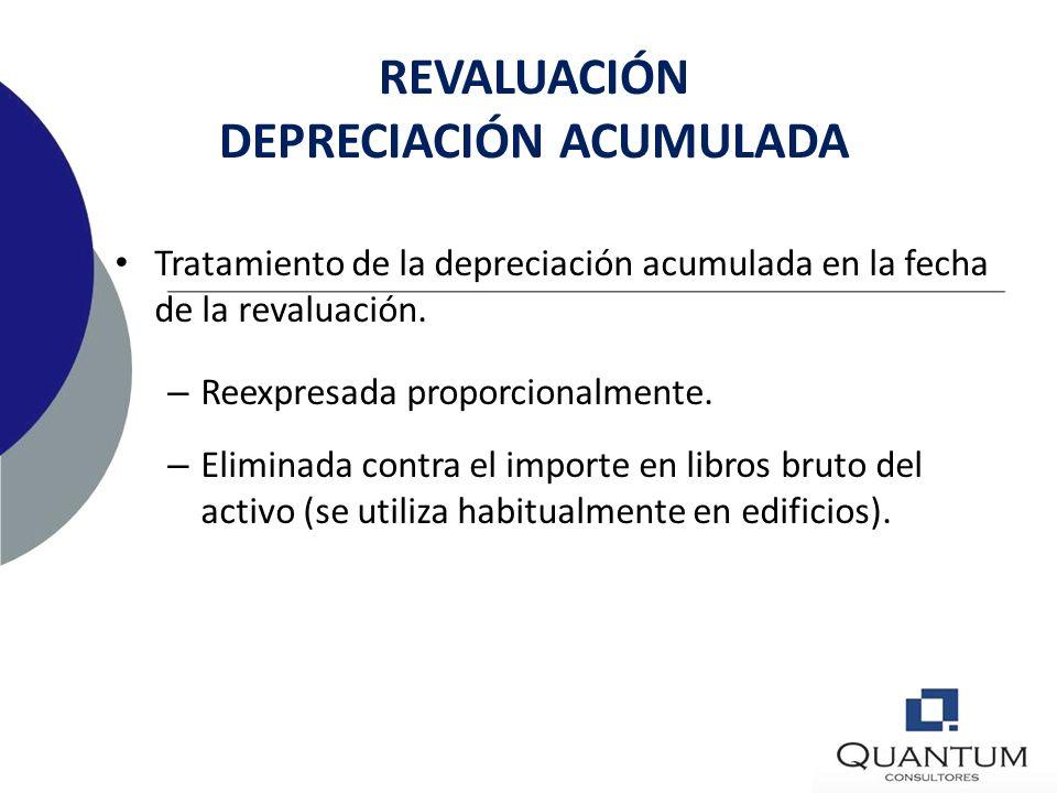 REVALUACIÓN DEPRECIACIÓN ACUMULADA