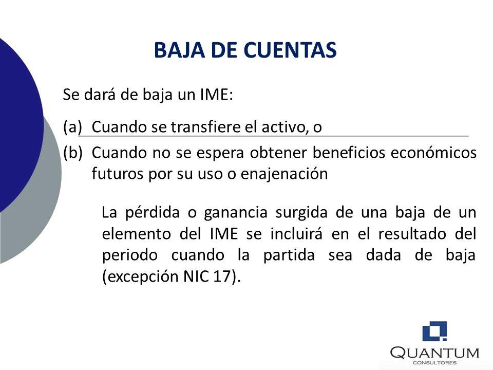 BAJA DE CUENTAS Se dará de baja un IME: