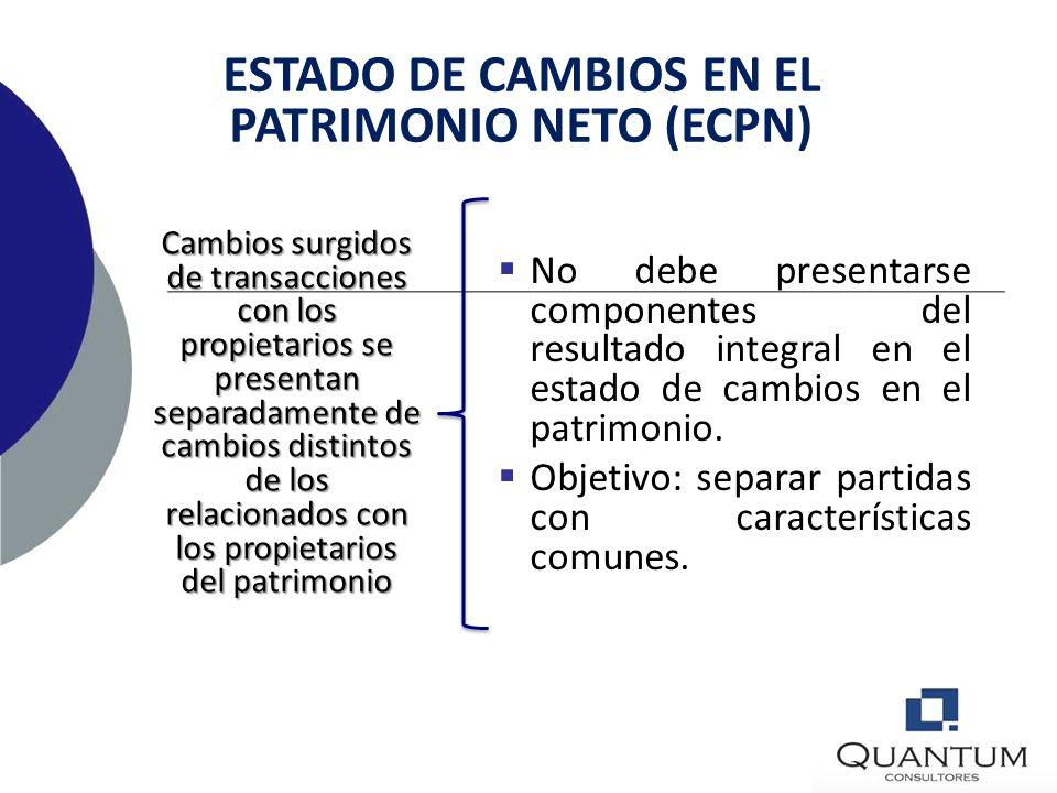 ESTADO DE CAMBIOS EN EL PATRIMONIO NETO (ECPN)