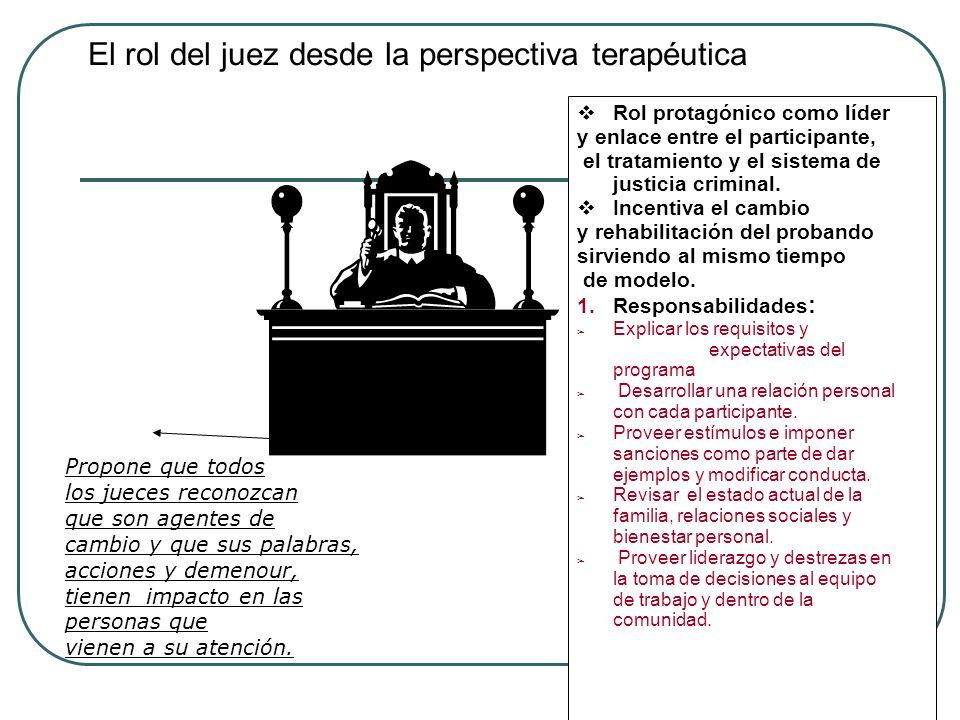 El rol del juez desde la perspectiva terapéutica