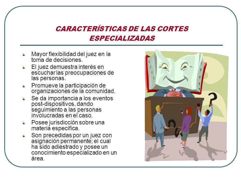 CARACTERĺSTICAS DE LAS CORTES ESPECIALIZADAS