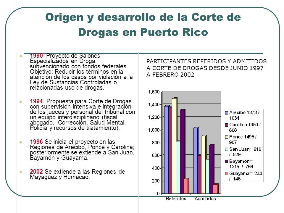 Origen y desarrollo de la Corte de Drogas en Puerto Rico