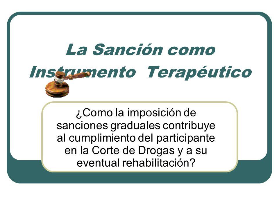 La Sanción como Instrumento Terapéutico