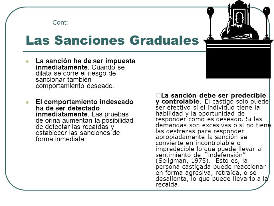 Las Sanciones Graduales