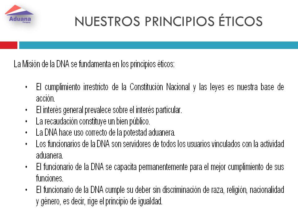 NUESTROS PRINCIPIOS ÉTICOS