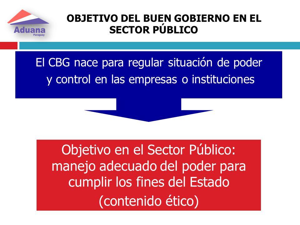OBJETIVO DEL BUEN GOBIERNO EN EL SECTOR PÚBLICO