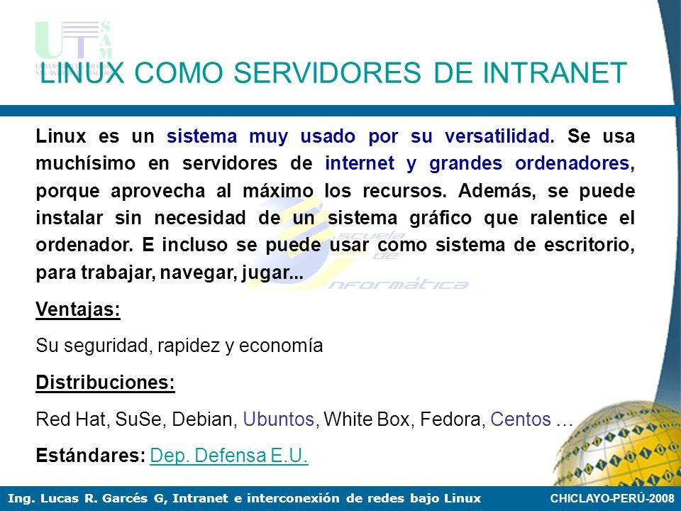LINUX COMO SERVIDORES DE INTRANET