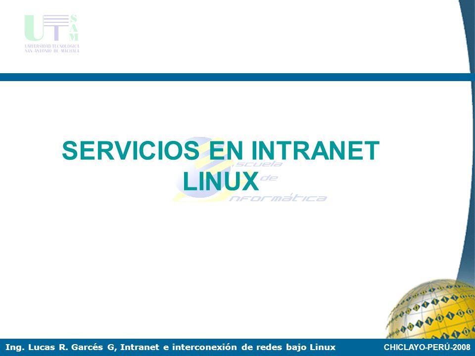 SERVICIOS EN INTRANET LINUX