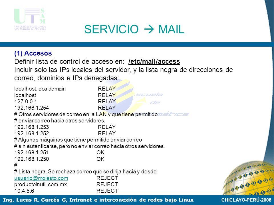 SERVICIO  MAIL (1) Accesos