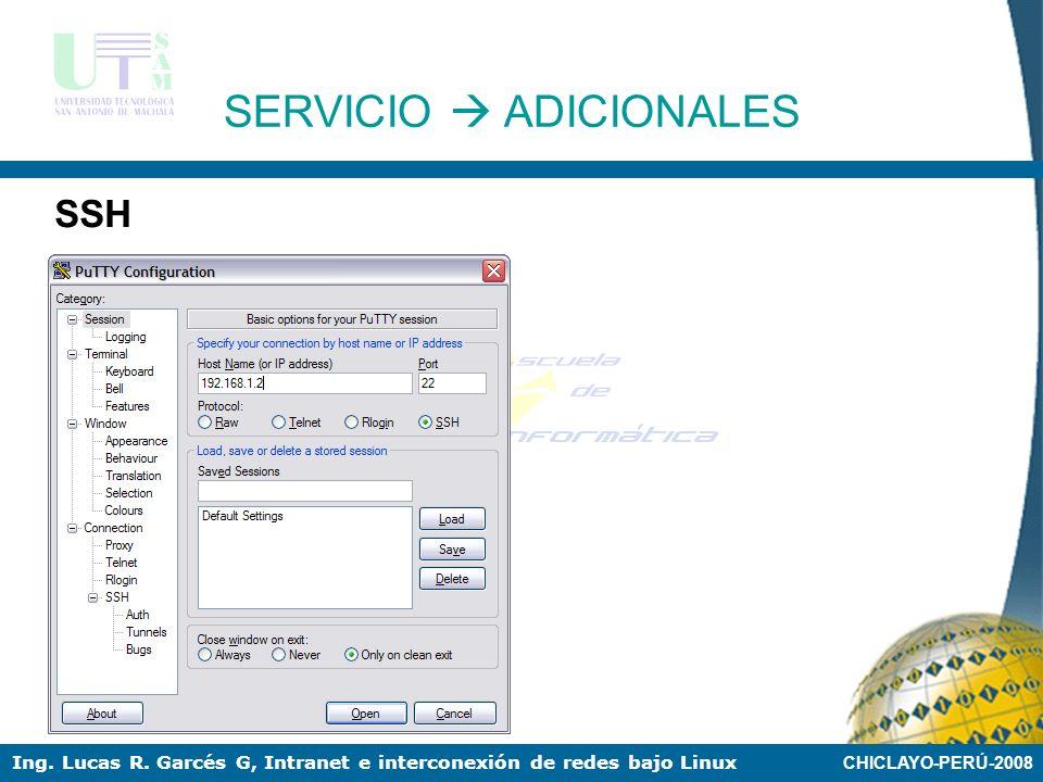 SERVICIO  ADICIONALES