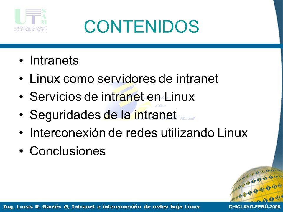 CONTENIDOS Intranets Linux como servidores de intranet