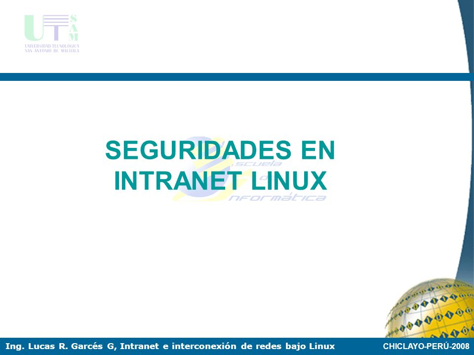 SEGURIDADES EN INTRANET LINUX