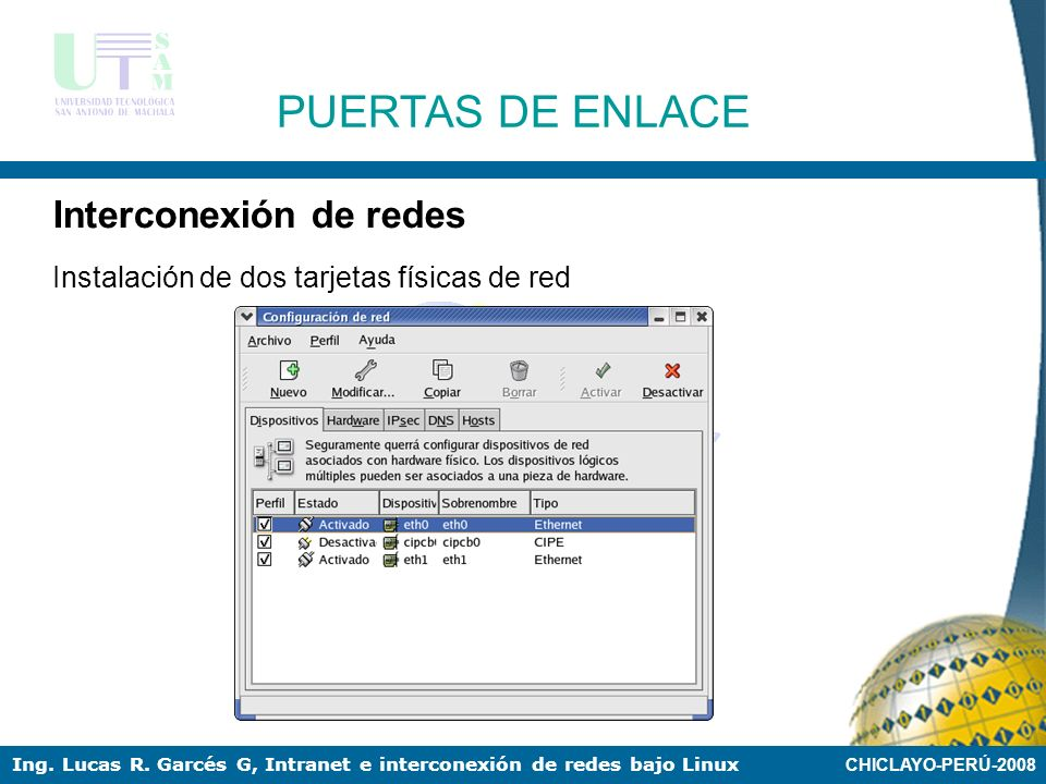 PUERTAS DE ENLACE Interconexión de redes