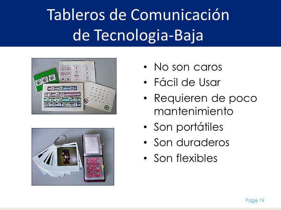 Tableros de Comunicación de Tecnologia-Baja