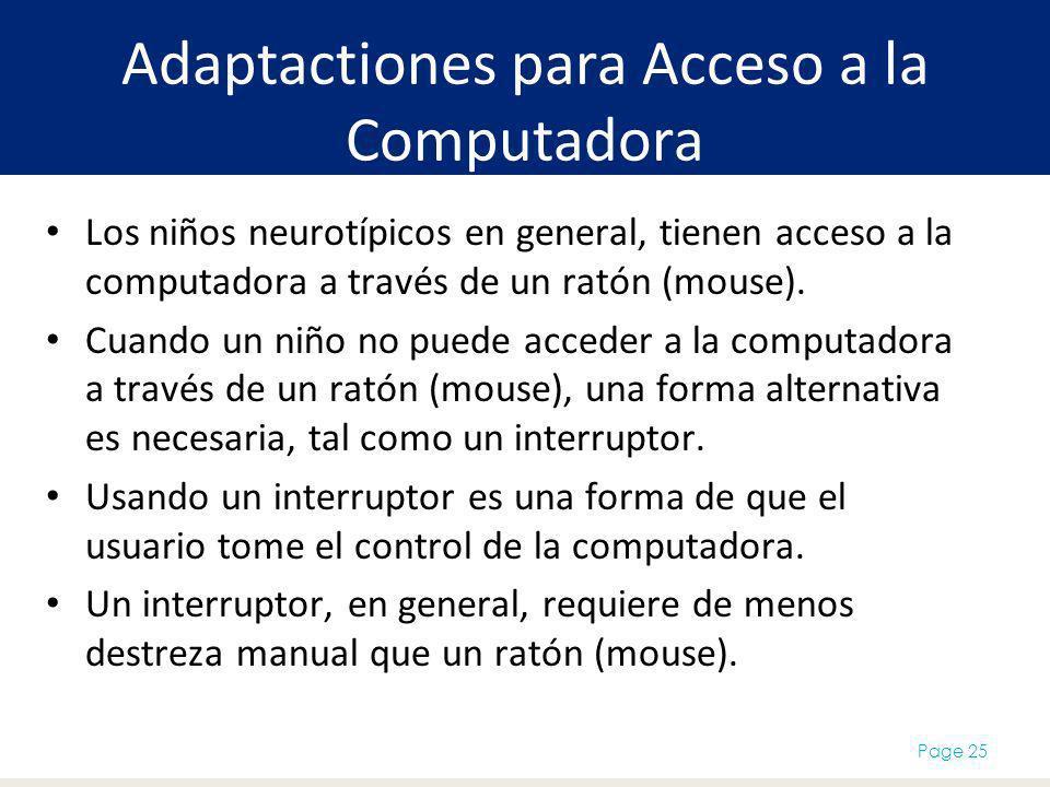 Adaptactiones para Acceso a la Computadora
