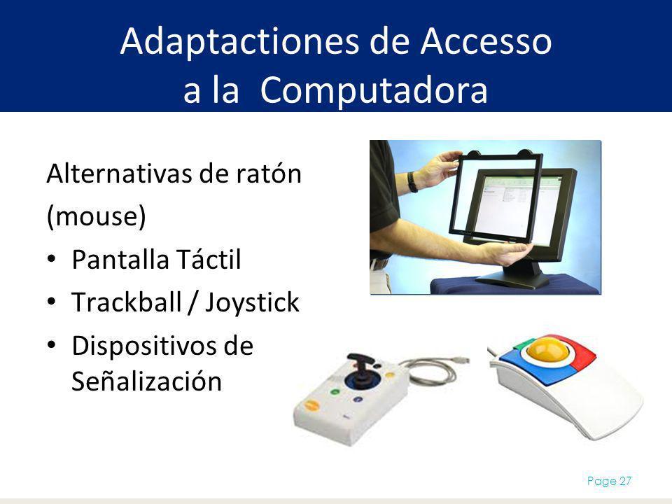 Adaptactiones de Accesso a la Computadora