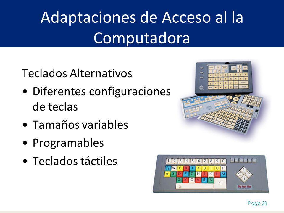 Adaptaciones de Acceso al la Computadora
