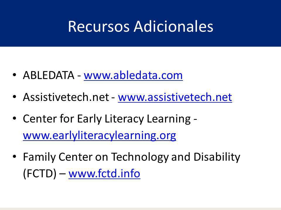 Recursos Adicionales ABLEDATA - www.abledata.com