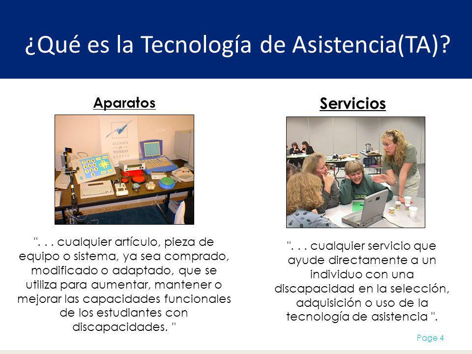 ¿Qué es la Tecnología de Asistencia(TA)