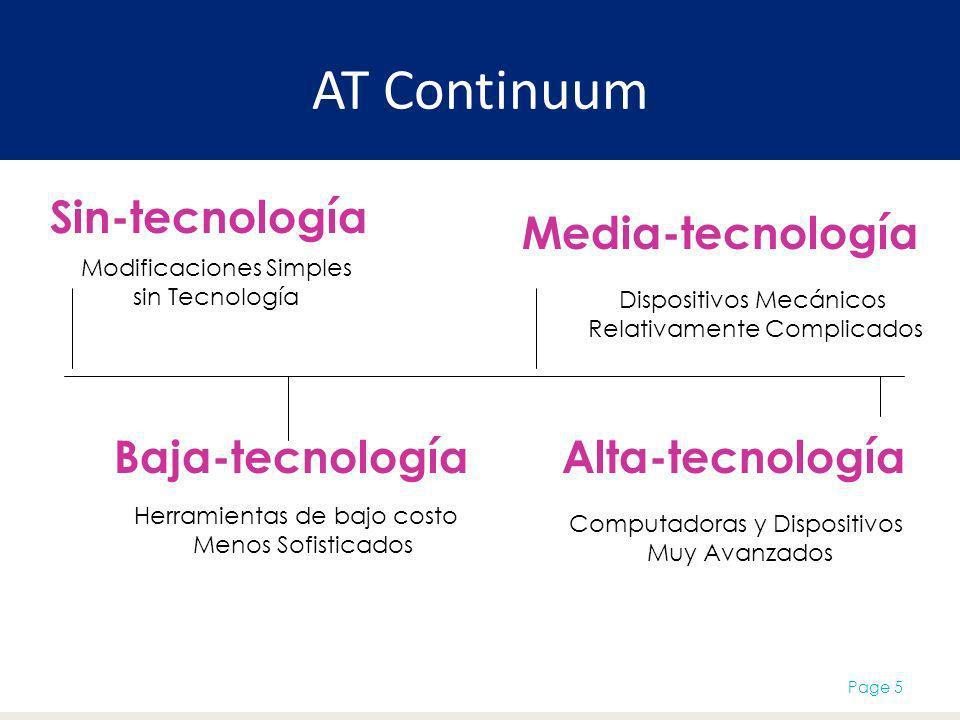 AT Continuum Sin-tecnología Media-tecnología Baja-tecnología