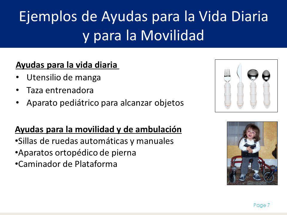 Ejemplos de Ayudas para la Vida Diaria y para la Movilidad