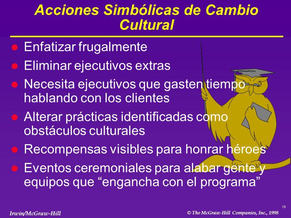 Acciones Simbólicas de Cambio Cultural